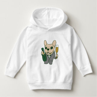 Enjoy Champagne with Frenchie at Your Celebration Hoodie