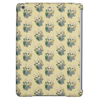 Enjoy Champagne with Frenchie at Your Celebration iPad Air Cases