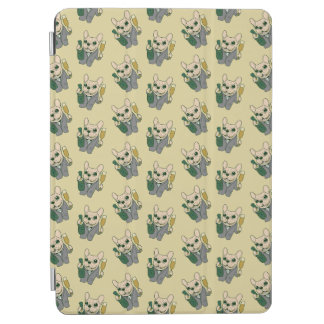 Enjoy Champagne with Frenchie at Your Celebration iPad Air Cover
