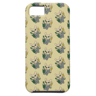 Enjoy Champagne with Frenchie at Your Celebration iPhone 5 Cover