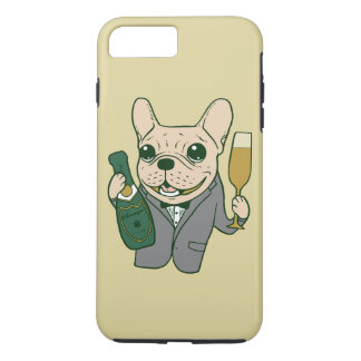 Enjoy Champagne with Frenchie at Your Celebration iPhone 8 Plus/7 Plus Case