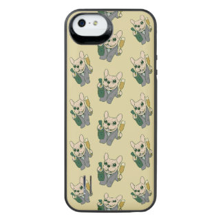 Enjoy Champagne with Frenchie at Your Celebration iPhone SE/5/5s Battery Case