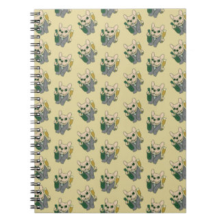 Enjoy Champagne with Frenchie at Your Celebration Notebook