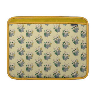 Enjoy Champagne with Frenchie at Your Celebration Sleeve For MacBook Air