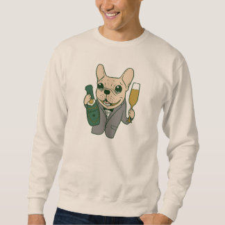 Enjoy Champagne with Frenchie at Your Celebration Sweatshirt