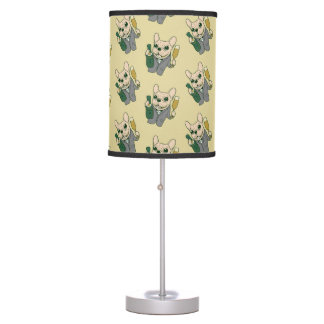 Enjoy Champagne with Frenchie at Your Celebration Table Lamp
