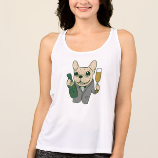 Enjoy Champagne with Frenchie at Your Celebration Tank Top
