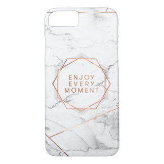Enjoy every moment, marble  Iphone case