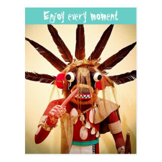 """""""Enjoy every moment"""" quote funny cute face photo Postcard"""