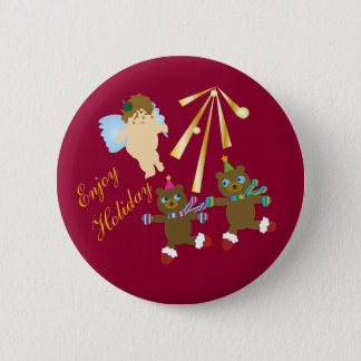 Enjoy Holiday 2 Inch Round Button