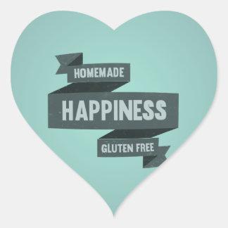 Enjoy homemade happiness, now gluten free heart sticker