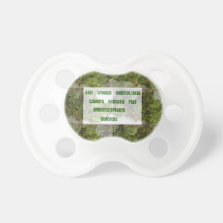 ENJOY LEAFY GREEN VEGETABLES HEALTHY CHOICES BABY PACIFIER