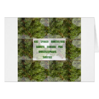 ENJOY LEAFY GREEN VEGETABLES HEALTHY CHOICES CARD