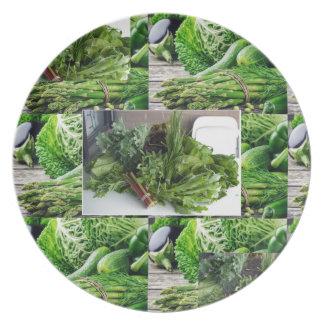 ENJOY LEAFY GREEN VEGETABLES HEALTHY CHOICES DINNER PLATES