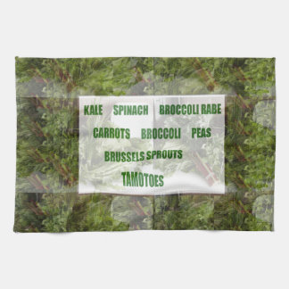 ENJOY LEAFY GREEN VEGETABLES HEALTHY CHOICES HAND TOWELS