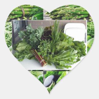 ENJOY LEAFY GREEN VEGETABLES HEALTHY CHOICES HEART STICKER
