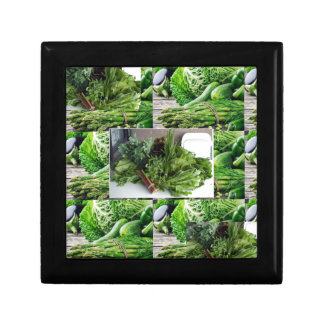 ENJOY LEAFY GREEN VEGETABLES HEALTHY CHOICES JEWELRY BOXES