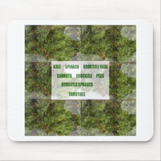 ENJOY LEAFY GREEN VEGETABLES HEALTHY CHOICES MOUSE PAD