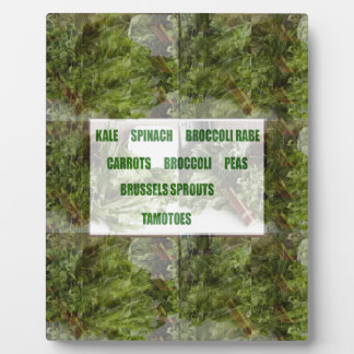 ENJOY LEAFY GREEN VEGETABLES HEALTHY CHOICES PHOTO PLAQUE