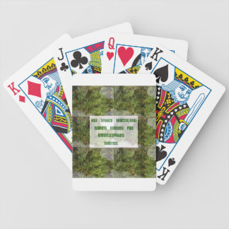 ENJOY LEAFY GREEN VEGETABLES HEALTHY CHOICES POKER DECK