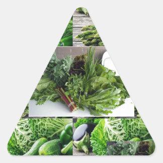 ENJOY LEAFY GREEN VEGETABLES HEALTHY CHOICES TRIANGLE STICKER