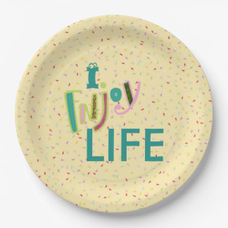 Enjoy Life and Prty Paper Plate
