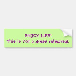 ENJOY LIFE! BUMPER STICKER