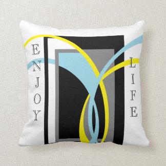 """""""Enjoy Life"""" Design Throw Pillow"""