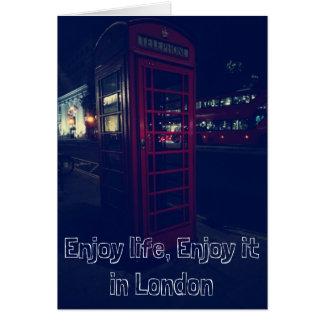 Enjoy life, Enjoy it in london Card
