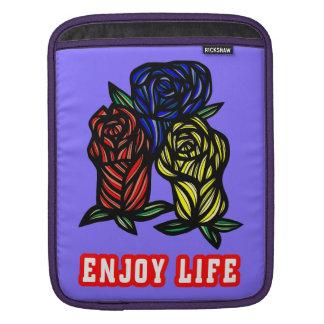 """Enjoy Life"" Ipad Soft Case Sleeve For iPads"