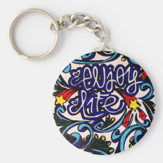 Enjoy life keychain