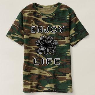 """Enjoy Life"" Men's Camouflage T-Shirt"