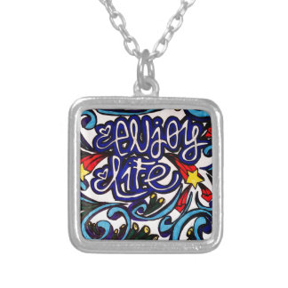 Enjoy life silver plated necklace