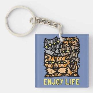 """Enjoy Life"" Square (double-sided) Keychain"