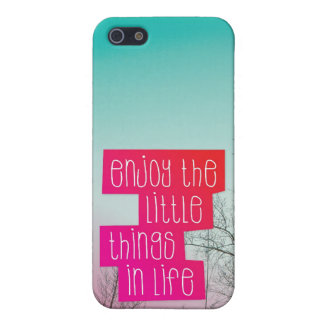 Enjoy little things quote text iphone case iPhone 5/5S covers