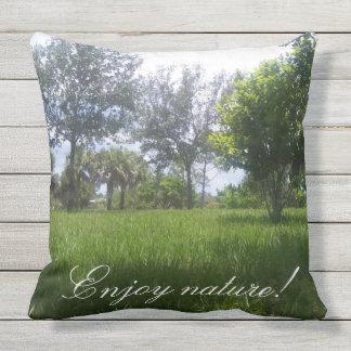 Enjoy nature Beautiful Nature Park Picture Outdoor Pillow