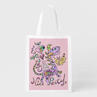Enjoy Nice Party☆ (one side) Reusable Grocery Bag