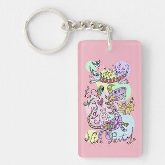 Enjoy Nice Party☆pink1 Keychain