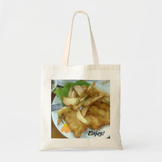 Enjoy Roasted Chicken Breasts With Fried Potatoes Tote Bag