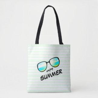 Enjoy Summer / Fun Retro Beach Sunglasses Tote Bag