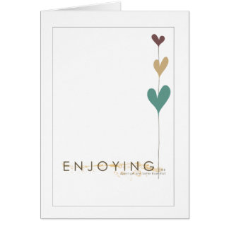enjoy the day greeting card