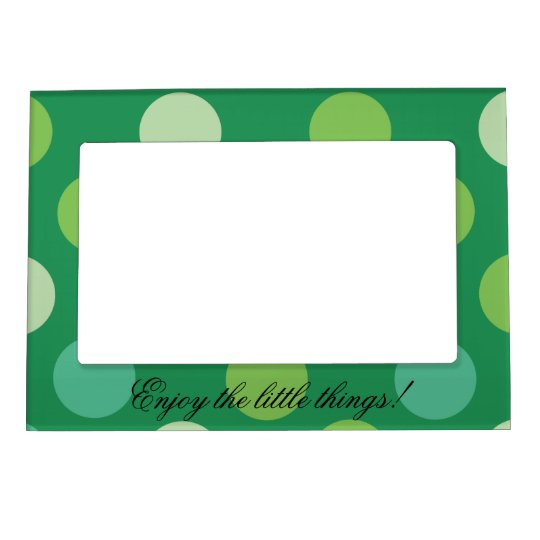 Enjoy the Green dots Magnetic Picture Frame
