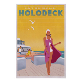 Enjoy the Holodeck Poster