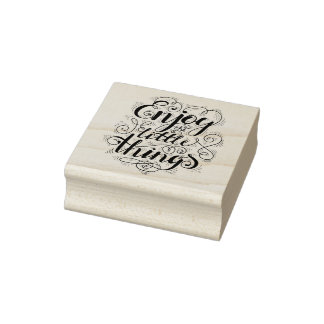 Enjoy The Little Things 1 Rubber Stamp