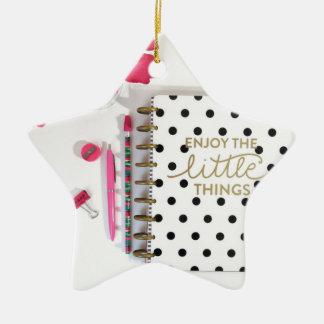 Enjoy the Little Things Ceramic Ornament