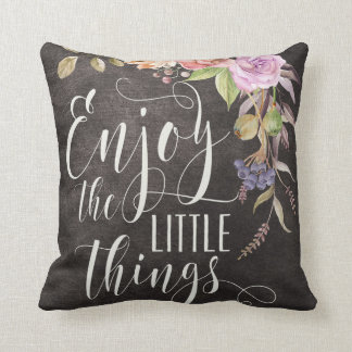 Enjoy The Little Things Cotton Pillow