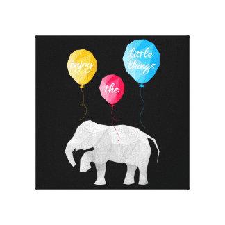 Enjoy the little things elephant canvas kind
