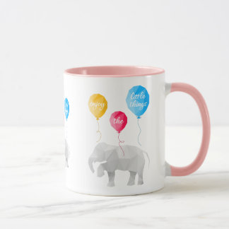 Enjoy the little things elephant coffee cup