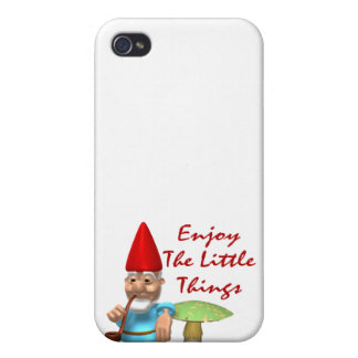 Enjoy The Little Things Gnome iPhone 4/4S Case