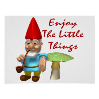Enjoy The Little Things Gnome Poster